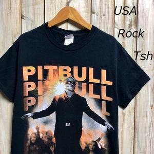 バンドT・ロックT USA PITBULL Tシャツ GILDAN S EDM ピットブル ●27