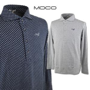3割引【モコ MOCO】メンズ 長袖ポロシャツ LL(52) 紺 212192912-98 MOCO ゴルフ 日本製 おしゃれ 起毛素材 @