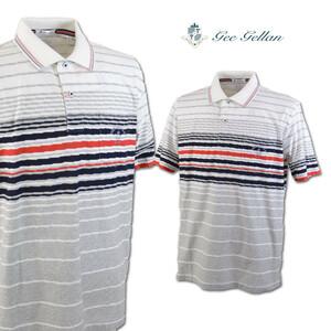 30%OFF【ゲラン】メンズ 半袖ポロシャツ (50)LL 白 3210-2504-11 GEE GELLAN カジュアル ゴルフ 高級素材 日本製 大きいサイズ @
