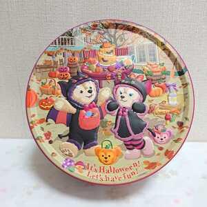 【美品】 TDS ハロウィーン 2013 ダッフィー シェリーメイ お菓子 缶 大 ディズニーシー 【ディズニー】