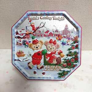 【美品】 TDS クリスマス 2013 ダッフィー シェリーメイ お菓子 缶 ディズニーシー 【ディズニー】