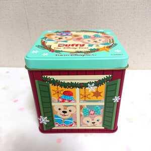 【美品】 TDS クリスマス 2011 ダッフィー シェリーメイ お菓子 缶 ディズニーシー 【ディズニー】