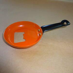 フライパン栓抜き レトロフライパン栓抜き オレンジ色① レトロ雑貨