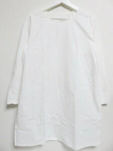 日本製 CURENSOLOGY カレンソロジー CL906013ER 麻混 ワンピース サイドスリット F 白 無地 ホワイト エレメントルール