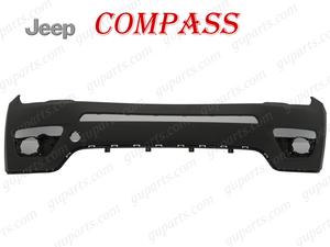 ■ JEEP ジープ コンパス 2017~ M624 フロント バンパー アッパー エアロ ボディ パーツ センサー 穴無