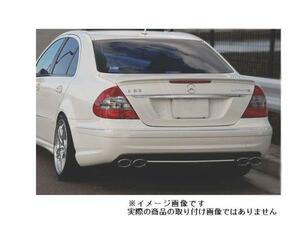 ■ ベンツ W211 E240 E250 E280 E300 E320 E350 E500 → E55 E63 AMG リア バンパー ディフューザー クローム メッキ A2118800640 穴無