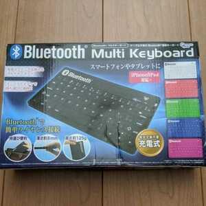Bluetooth マルチキーボード 充電式★ピンク