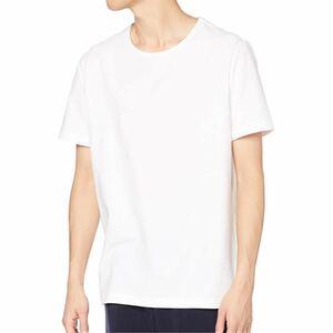 無地 Tシャツ メンズ 半袖 長袖 タイトフィット ストレッチ クルーネック 綿 伸縮性スパンデックス