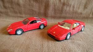 WELLY ウェリー フェラーリ 550 マラネロ 348 ダイキャストメタルミニカー 全長約12cm程 2台 ジャンク 現状品 セット まとめて まとめ売り
