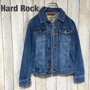 【レア!】Hard Rock ハードロック ヴィンテージデニム ジャケット ジージャン Gジャン Sサイズ レディース インディゴブルー
