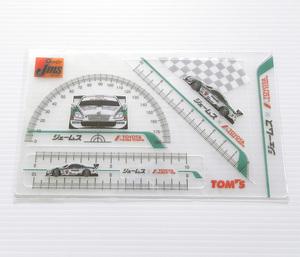 ジェームス トヨタ TEAM TOM'S 文具シート 三角定規 分度器 チームトムス F1 トムス レクサス jms 自動車 SC430 レーシングカー GT500 車