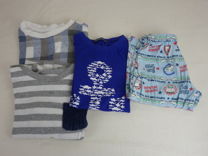子供服 男の子 120サイズ 4点セット 半袖 長袖 パジャマ ズボン ikka/LITTLE BEAR CLUB/K.mayer