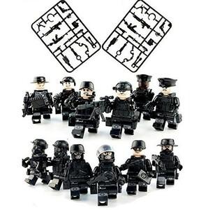 『送料無料 即決』レゴ 互換 LEGO SWAT 特殊部隊 フル装備 大量武器パーツ ミニフィグ 12体セット
