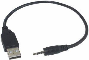【送料無料】 便利な変換ケーブル#39, USBケーブル 2.0対応 ⇔ 2.5mm ステレオミニプラグ 4極 充電用 USB-A by Rosebe