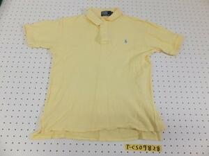 〈送料280円〉Polo by Ralph Lauren ラルフローレン メンズ ロゴワンポイント刺繍 半袖ポロシャツ L 黄色