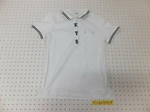 〈送料280円〉ノーブランド レディース 英字刺繍 隠しボタン 半袖ポロシャツ 大きいサイズ XL 白黒