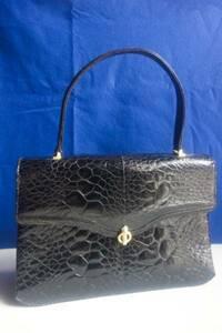和装 フォーマルな装いに 亀革 エキゾチックレザー ハンドバッグ