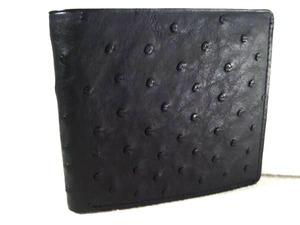 エキゾチックレザー オーストリッチのゴージャスなお財布 日本製