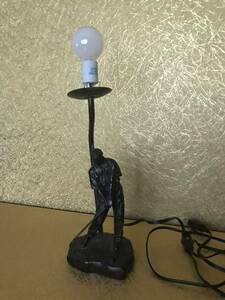 スタンドライト アンティーク 電気スタンド 金属 コレクション 中古現状品  鉄製