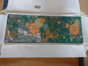 即決!袋帯金銀刺繍緑系和装和服着物