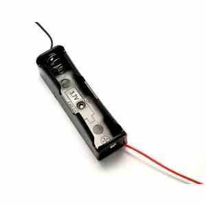 電池ケース電池1本用 リード線付きUltraFire リチウムイオン充電池18650型対応