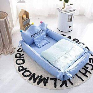 одеяло Королевского коронирования покрывало постельное белье (с водонепроницаемыми простынями) с подушками одеяло, можно разобрать и почистить детское одеяло (синее)