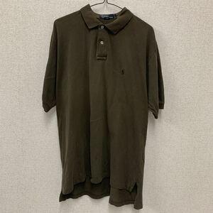 POLO RALPH LAUREN ポロラルフローレン 半袖ポロシャツ ワンポイント カーキ L