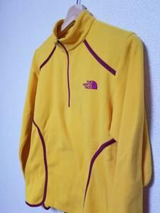 786 THE NORTH FACE ザノースフェイス ロングスリーブ ジップアップシャツ イエロー 黄色 XL