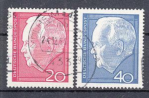 西ドイツ 1964年使用済み 連邦大統領/リュプケ#429-430/1