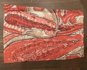 【はぎれ】日本製 ポリエステル 抽象ペイズリー柄 約14cm×24cm 布 生地 ハンドメイド用 ピンクE