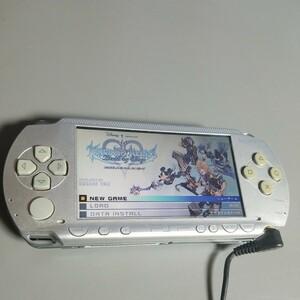 PSP一式とキングダムハーツ、モンハン、みんごる2、パワプロ等10本付送料込