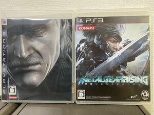メタルギアソリッド4 メタルギアライジング 2本セット PS3