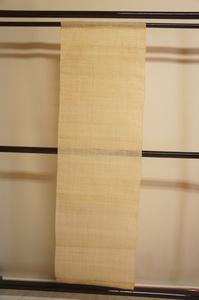 厚手生成色生平麻タペストリー暖簾未使用品[E12625]