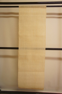 厚手生成色生平麻タペストリー暖簾未使用品[E12626]