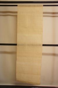 厚手生成色生平麻タペストリー暖簾未使用品[E12623]