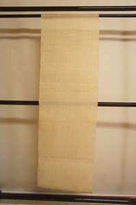 厚手生成色生平麻タペストリー暖簾未使用品[E12624]