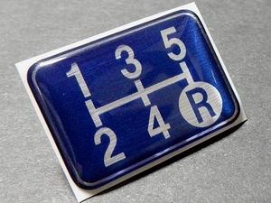 Tuningfan シフトパターン エンブレム ブルー 5速MT車用 青 SPE-B501 BLUE RPS13 S14 FD3S BCNR33 JZX100 GC8 STI PP1 EA11R K11 SW20