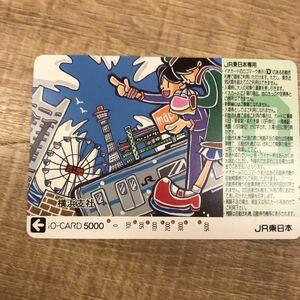 イオカード209系京浜東北線と地図を持つ男女の絵JR東日本横浜支社限定使用済み