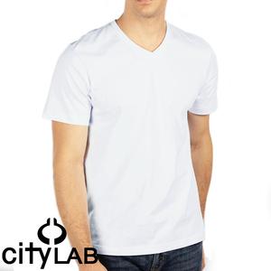 【新品本物】CITY LAB シティラブ■ V Neck T-Shirt ■ アイスホワイト / L ■Vネック ソリッド 無地Tシャツ