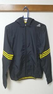 adidas ナイロンジャケット ウィンドブレーカー AAD15 黒 ブラック