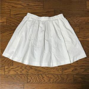 アダムエロペ ホワイト フレア スカート