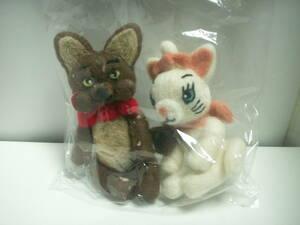 新品◆ハンドメイド 羊毛フェルト ねこ neko cat 猫  ◆白猫 茶猫