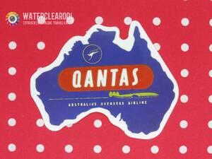 ▼ 33081-EPHES ▼ ▽ [Ностальгический наклейка * Airline] Qantas * Australia зарубежная авиакомпания