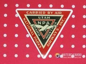 ▼ ▼ 33080-EPHES ▼ ▽ [Ностальгический наклейка * Airline] Национальные парки Airways Inc.