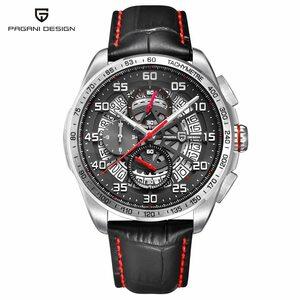 PAGANI DESIGN・防水・レザーストラップ・クォーツ・スポーツ・メンズ腕時計