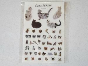 Cat's ISSUE ☆ キャッツ イシュー 非売品 未使用 リンネル 付録 ステッカー シール シート サバ美 コムタン Cat ネコ 猫