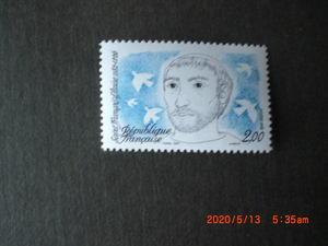 アッシジの聖フランシス生誕800年記念 1982年 未使用 フランス・仏国 VF/NH
