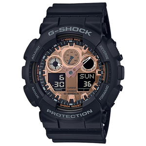 CASIO G-SHOCK Gショック ジーショック カシオ 腕時計 アナデジ 多機能 ローズゴールド×ブラック 海外モデル GA-100MMC-1A