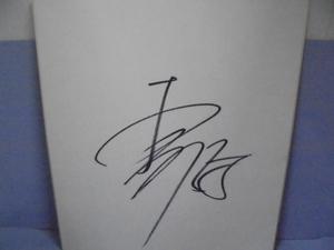 直筆サイン色紙 ■大村巌  サイン  野球
