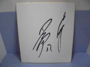 直筆サイン色紙 ■斉藤宜之  サイン  野球